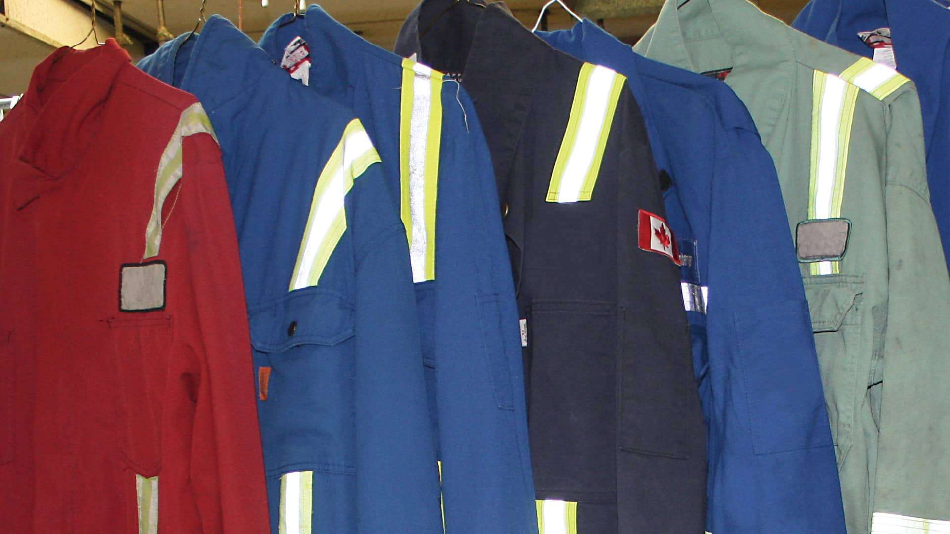 Drop your coverall here to be cleaned and repaired